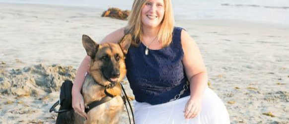 shanna and her guide dog diamond